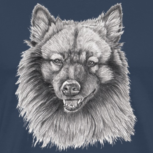Keeshond - grossspitz - Herre premium T-shirt