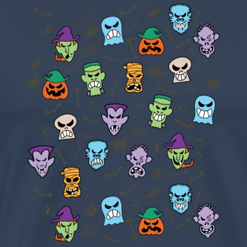 Halloween stars make funny faces - Men's Premium T-Shirt