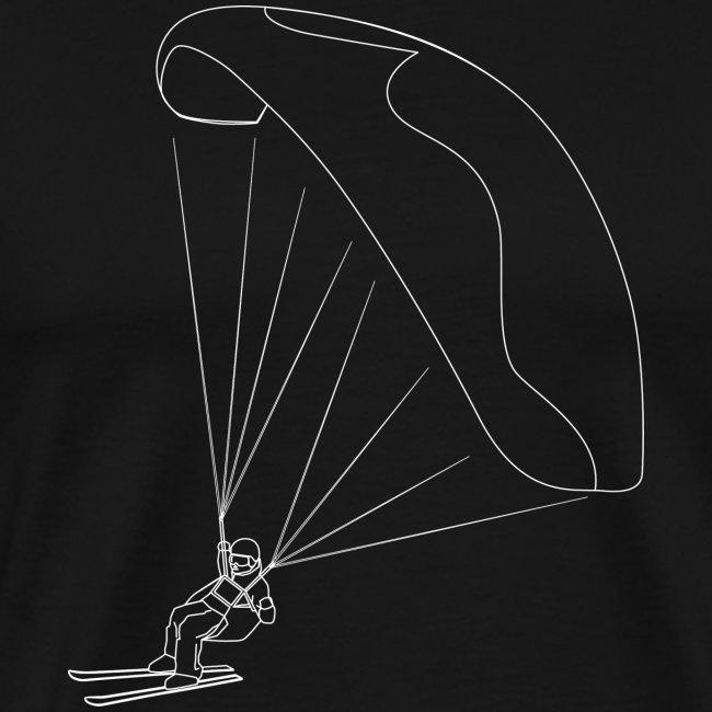 Speedflying Speedriding Linien Skizze