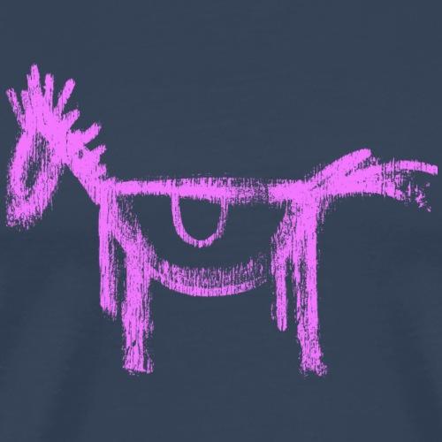 Pferd horse Pony Graffiti Wallart sketch Zeichnung - Men's Premium T-Shirt