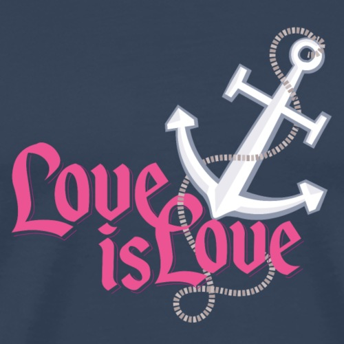 "Anker ""Love is Love"" - Männer Premium T-Shirt"