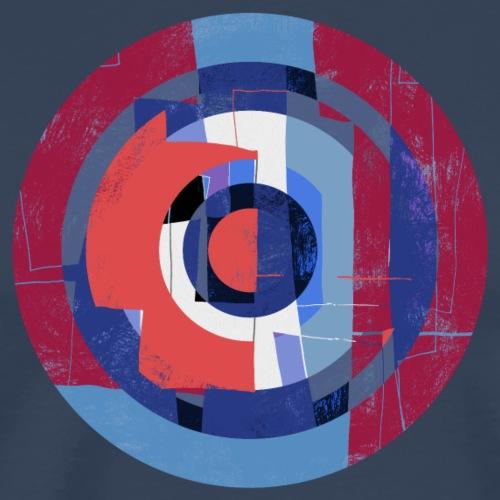 Circle design abstract colour 004 - Mannen Premium T-shirt