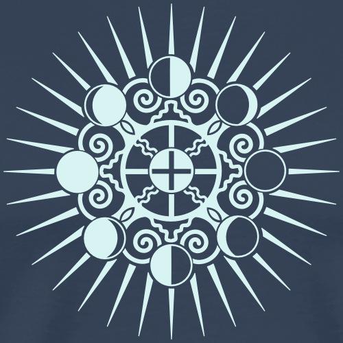 Mond Phasen, Sonne & Erde - Wandel ist Stabilität - Männer Premium T-Shirt