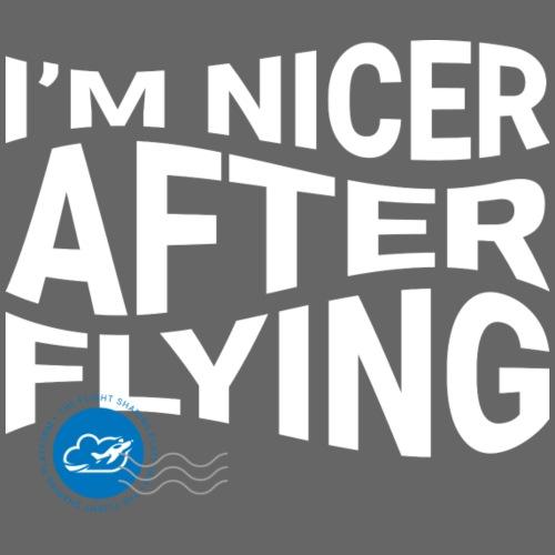 I'm nicer after flying (White) - Men's Premium T-Shirt