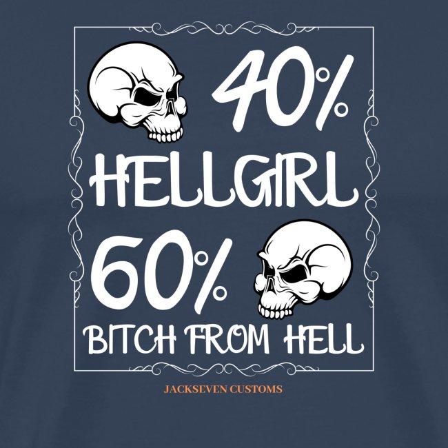 Hellgirl jackseven customs Totenkopf bitch Skull