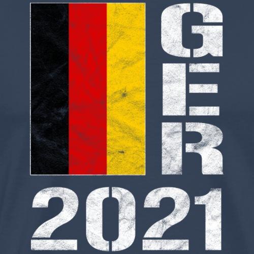 Deutschland 2021 Handball Fußball Fanshirt - Männer Premium T-Shirt