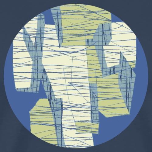 Circle design geometric abstract 001 - Mannen Premium T-shirt