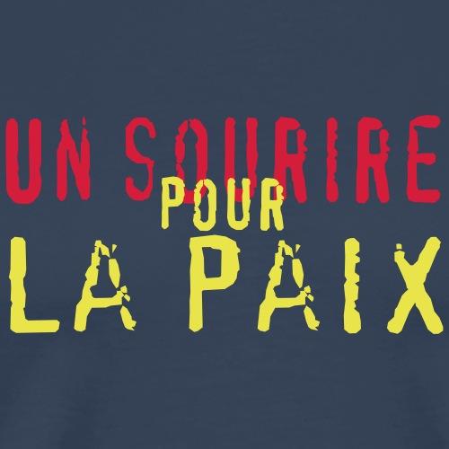 un sourire pour la paix - T-shirt Premium Homme