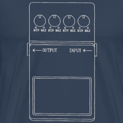 Guitar stompbox effects pedal - Men's Premium T-Shirt
