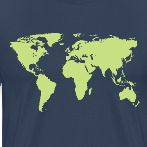 Carte du monde vert - T-shirt Premium Homme