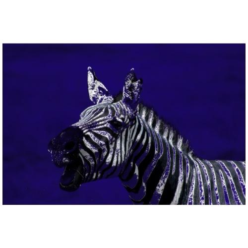 blue zebra - Men's Premium T-Shirt