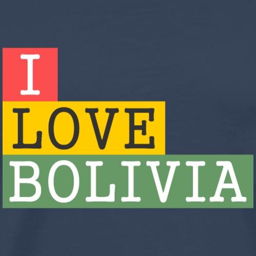 I Love Bolivia Tricolour - Camiseta premium hombre