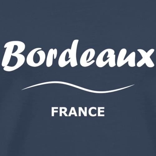 Bordeaux, blanc - Men's Premium T-Shirt