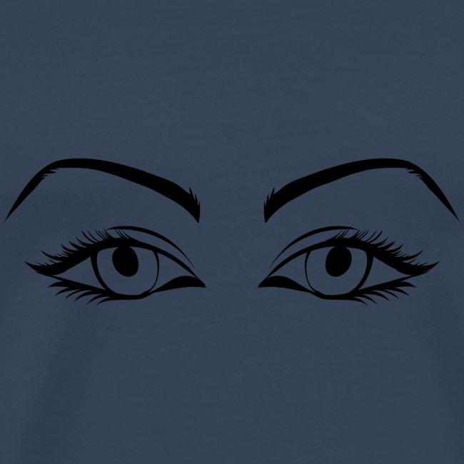 Womans eyes black