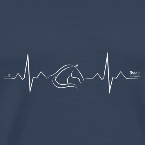 Herzschlag des Pferdes - Männer Premium T-Shirt