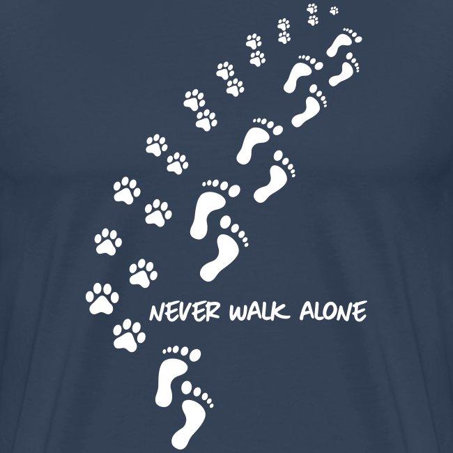 Vorschau: never walk alone dog - Männer Premium T-Shirt