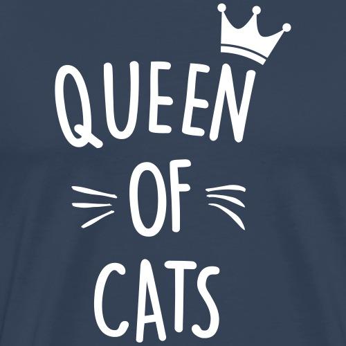 queen of cats - Männer Premium T-Shirt
