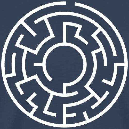 labyrinth-rund - Männer Premium T-Shirt