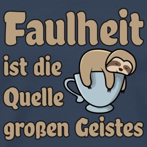 Faulheit - Männer Premium T-Shirt