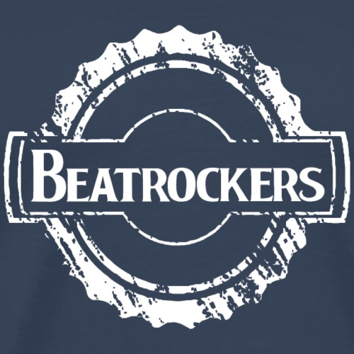Beatrockers - The Band | Kick Logo white - Männer Premium T-Shirt