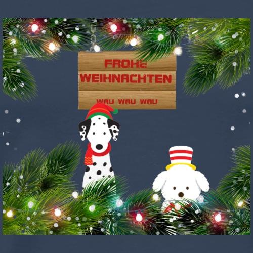 Hundeweihnachten mit Gruss - Männer Premium T-Shirt
