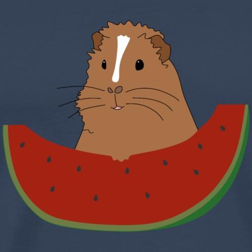 Meerschweinchen mit Wassermelone - Geschenk - Männer Premium T-Shirt