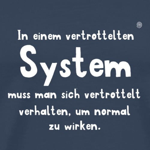 vertrotteltes System (weiss) - Männer Premium T-Shirt