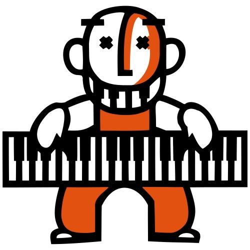 Groovy Pianist - Männer Premium T-Shirt