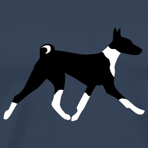 Laufender Basenji - Männer Premium T-Shirt