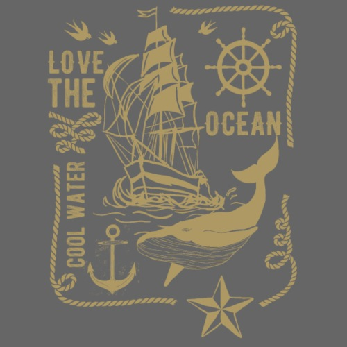 LOVE THE OCEAN #3 - Männer Premium T-Shirt