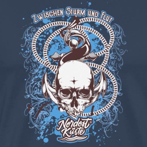 Skull Anker Design Art - Männer Premium T-Shirt