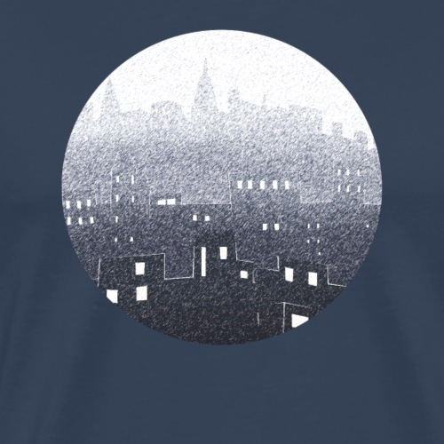 city hall snow blue - T-shirt Premium Homme