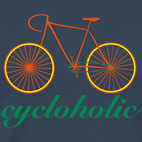 cycloholic bike - Männer Premium T-Shirt
