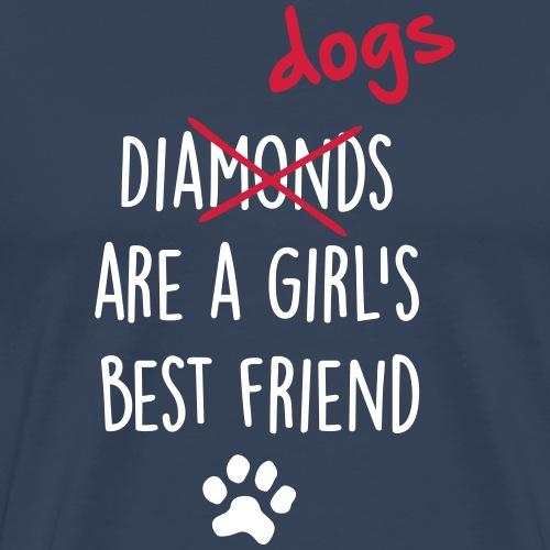 dogs girls best friend - Männer Premium T-Shirt