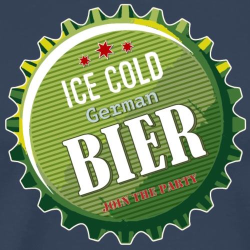 Bierdeckel German Bier join the Party Durst Retro - Men's Premium T-Shirt