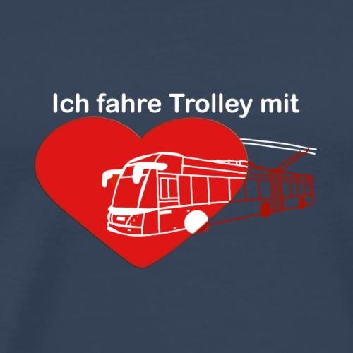 Trolleybus rot weisse-Schrift - Männer Premium T-Shirt