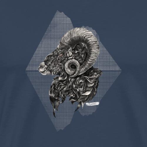 Widder Sternzeichen - Männer Premium T-Shirt