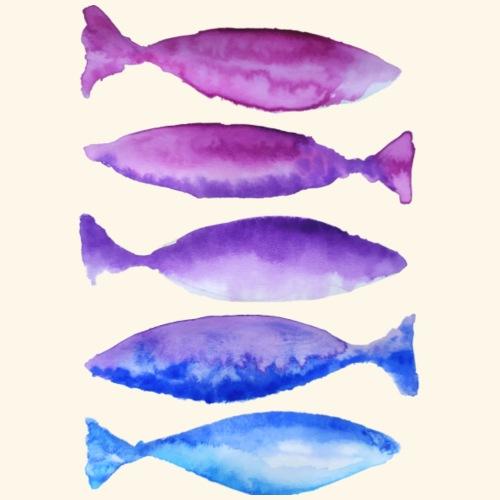 poissons violets - T-shirt Premium Homme