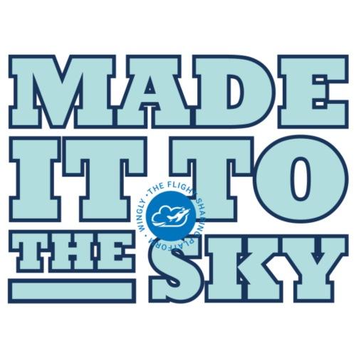 Made it to the sky (Light blue) - Men's Premium T-Shirt