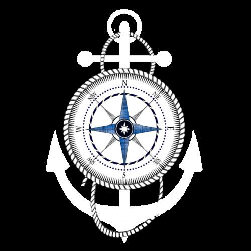Kompass mit Anker - Männer Premium T-Shirt