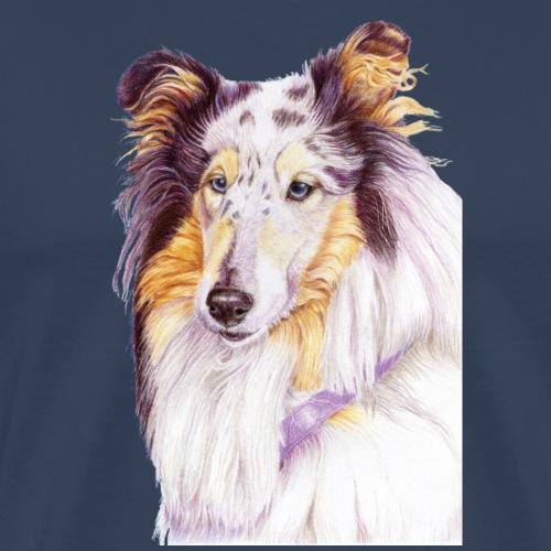 Collie bluemerle - Herre premium T-shirt