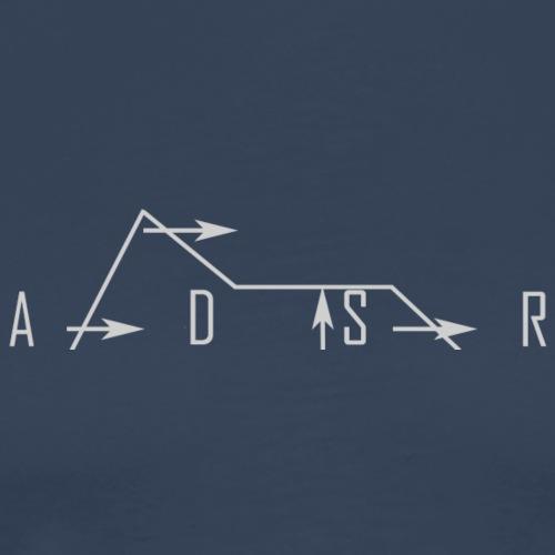 ADSR synth envelope diagram - Men's Premium T-Shirt