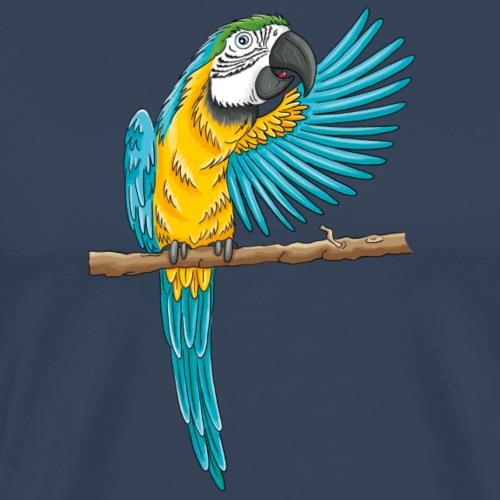 pfiffiger Papagei - Männer Premium T-Shirt