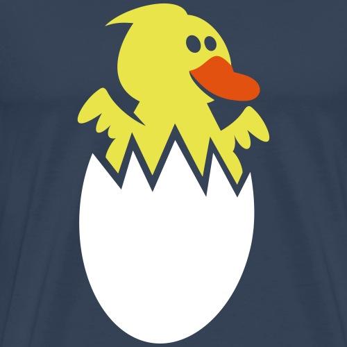 Kinder T Shirt Design Küken im Ei - Männer Premium T-Shirt