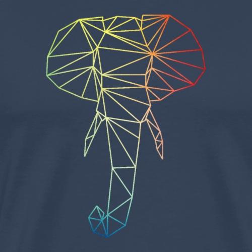 Rainbow polyphant - Men's Premium T-Shirt