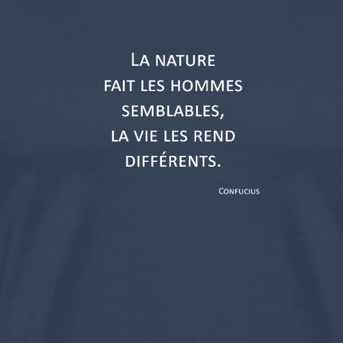 Hommes - Confucius - T-shirt Premium Homme