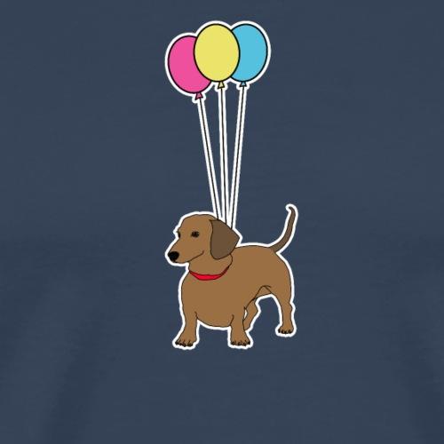 Dachshund with Balloons - Herre premium T-shirt