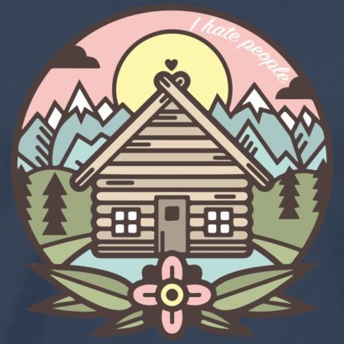 i hate people casa in montagna - Maglietta Premium da uomo
