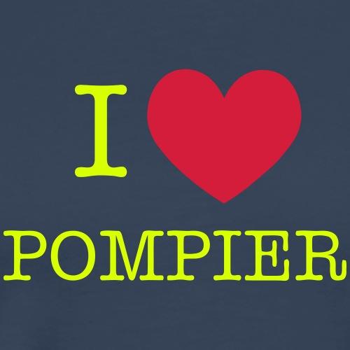 i love pompier - T-shirt Premium Homme