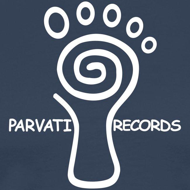 Parvati Records original white logo